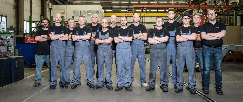 Produktionsteam der UT Umwelt- und Transporttechnik AG