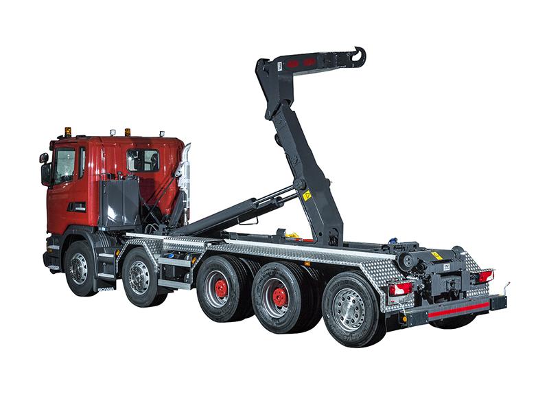 Haken-Abrollkipper SAURIER 5-Achser 32TR Varitec – Scania