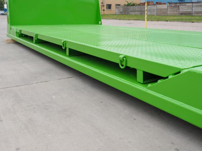 Grüne Transportpalette der UT Umwelt- und Transporttechnik AG