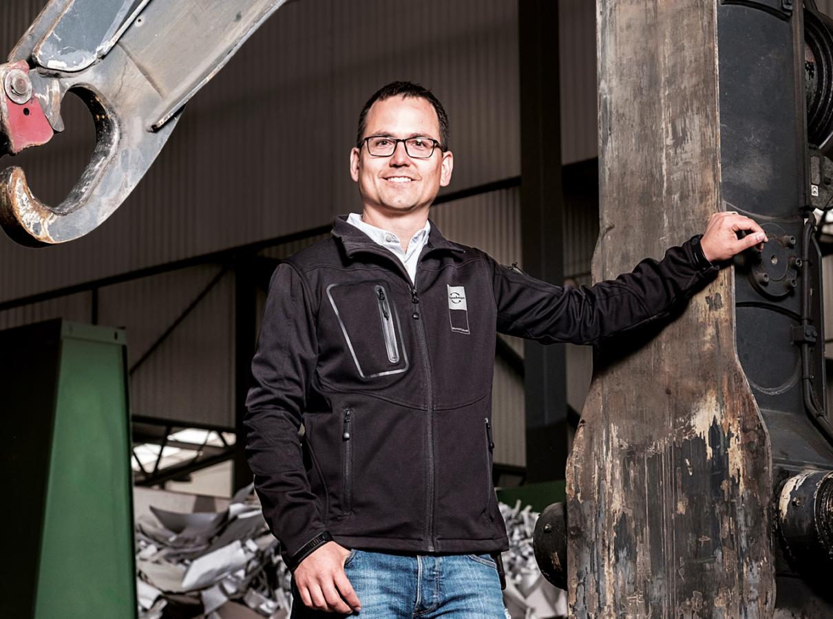 Potrait von Sascha Quaderer, Geschäftsführer Eggenberger Recycling AG.