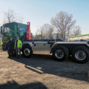 Realisierter Absetzkipper GIGANT 18T Comfort der Stieger Transport AG