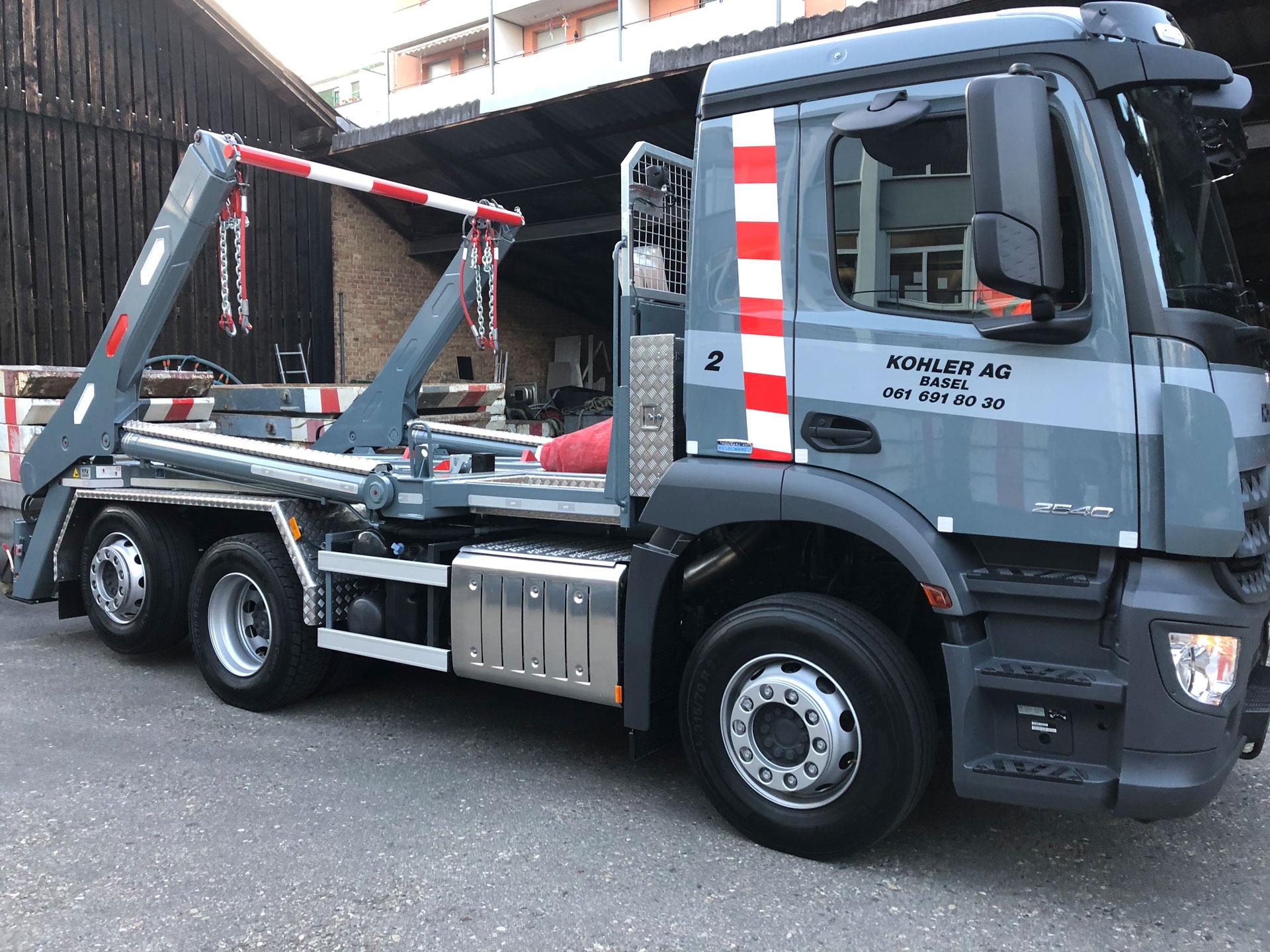 Realisierter Absetzkipper GIGANT 26T Comfort der Kohler AG