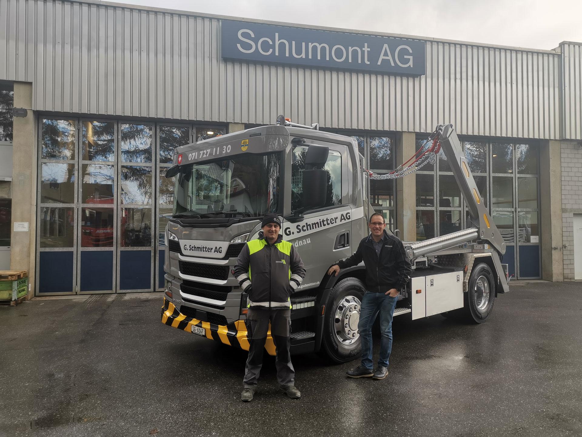 Welaki: Realisierter Absetzkipper GIGANT 12T der G. Schmitter AG