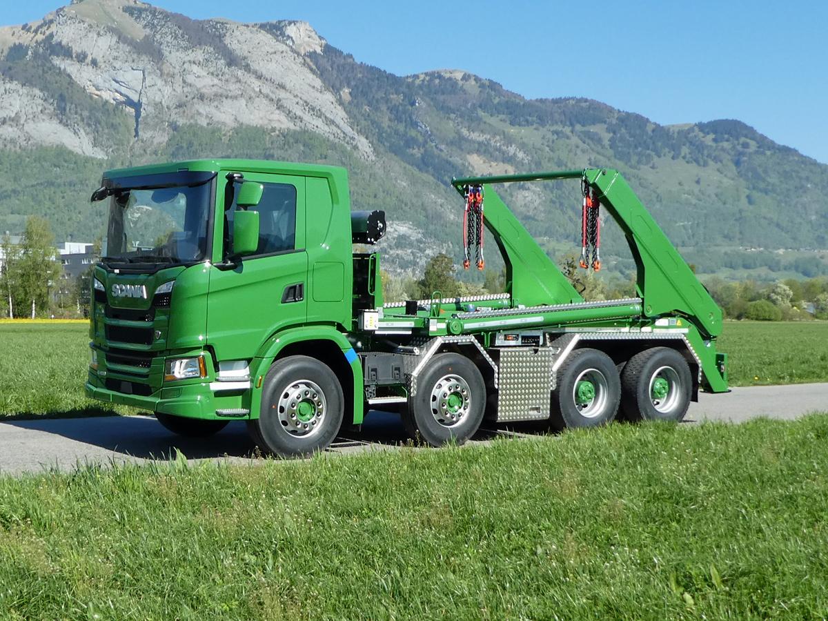 Welaki: Teleskop-Absetzkipper GIGANT 32T Comfort -Scania